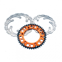 KTM OEM REAR MIXED ORANGE SPROCKET FRONT AND REAR DISC SX EXC-F MXC 250
